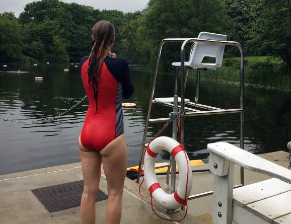 AC in Finisterre True North Marea swimsuit at Hammpstead Ladies pon 1