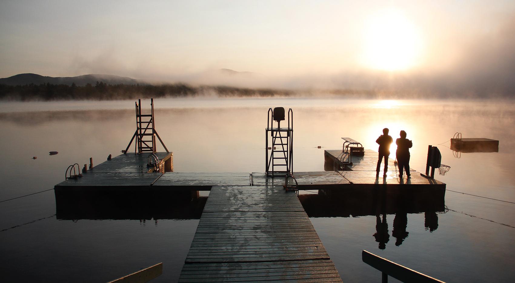 lake and jetty