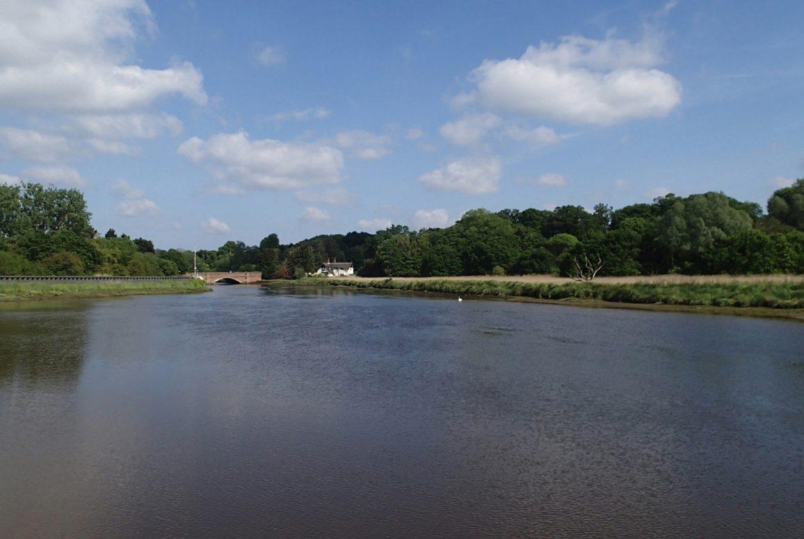 Slack tide in Suffolk river