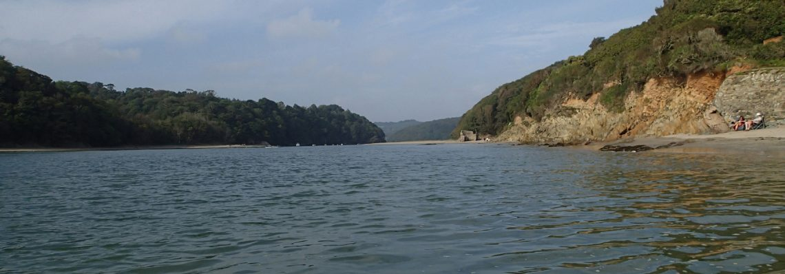 Calm looking estuary, but currents can be fierce