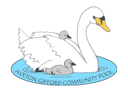 Aveton Gifford pool swan logo